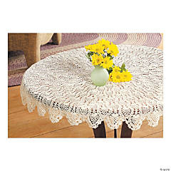 Crocheted Pineapple Doily Tabletopper