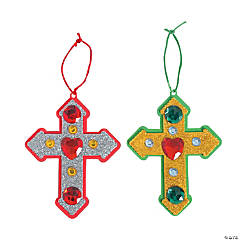 Cross Christmas Ornament Craft Kit