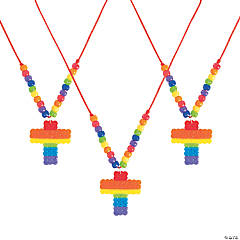 Cross Fuse Bead Necklaces