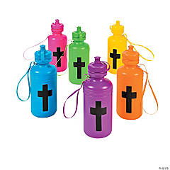 Cross Plastic Water Bottles