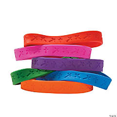Crosses Rubber Bracelets