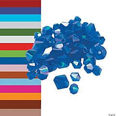 Crystal Aurora Borealis Bicone Beads - 4mm-6mm