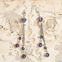 Crystal Beaded Drop Earrings Idea