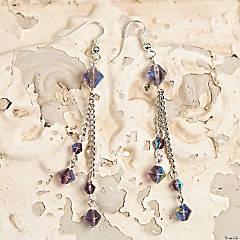 Crystal Beaded Drop Earrings Idea