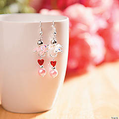 Crystal Beaded Valentine's Day Earring Idea