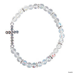 Crystal Sideways Cross Bracelet Craft Kit
