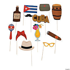 Cuban Party Photo Stick Props