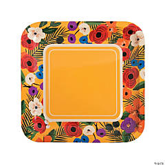 Cuban Party Square Paper Dinner Plates