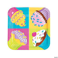 Cupcake Party Dinner Paper Plates