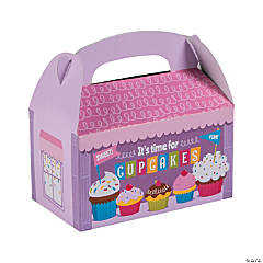 Cupcake Party Treat Favor Boxes