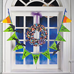 Curled Paper Halloween Wreath Idea