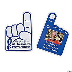 Custom Photo Alzheimer's Rally Hand Fans