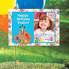 Custom Photo Art Party Yard Sign