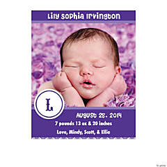 Custom Photo Baby Announcements - Girl