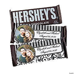 Custom Photo Black & White Wedding Chocolate Candy Bars