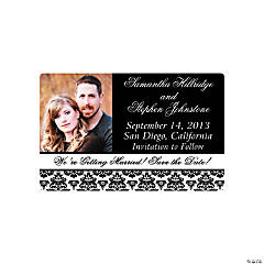 "Custom Photo Black & White Wedding ""Save the Date"" Magnets"