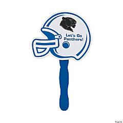 Custom Photo Blue Helmet Hand Fans