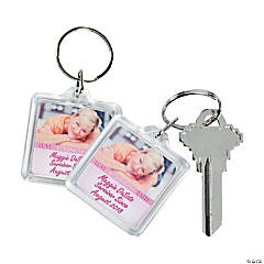 Custom Photo Breast Cancer Awareness Keychains