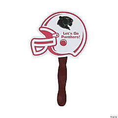 Custom Photo Burgundy Helmet Hand Fans