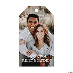 Custom Photo Classic Wedding Favor Tags