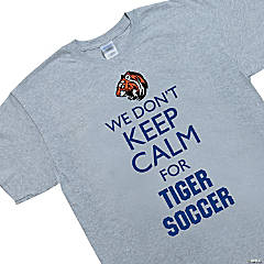 Custom Photo Extra Large Gray Team Spirit Shirt - We Don't Keep Calm