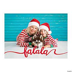 Custom Photo Fa La La Christmas Cards