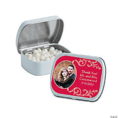 Custom Photo Filigree Mint Tins