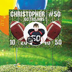 Custom Photo Football Yard Sign