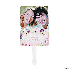 Custom Photo Garden Party Wedding Favor Fans