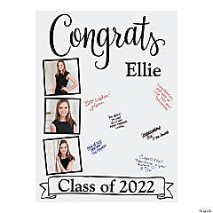 Custom Photo Graduation Sign-In Board