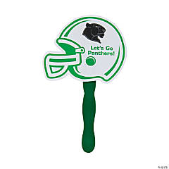 Custom Photo Green Helmet Hand Fans