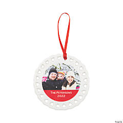 Custom Photo Heart Christmas Ornament