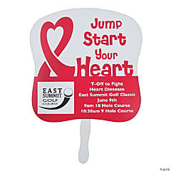 Custom Photo Heart Disease Awareness Hand Fans