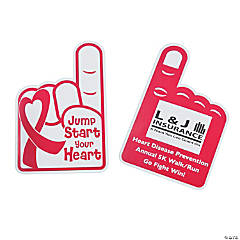 Custom Photo Heart Disease Rally Hand Fans