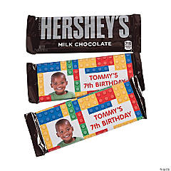 Custom Photo Hershey's® Color Brick Party Chocolate Candy Bars with Stickers