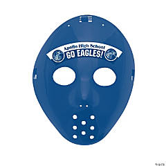 Custom Photo Hockey Masks - Blue