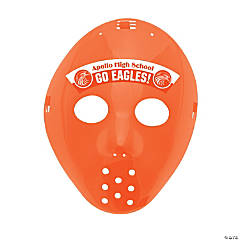 Custom Photo Hockey Masks - Orange