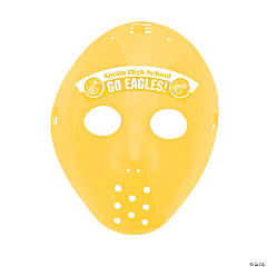 Custom Photo Hockey Masks - Yellow