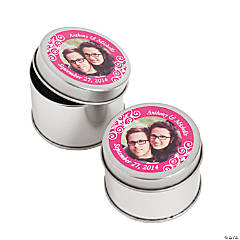 Custom Photo Hot Pink Metal Containers