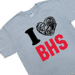 Custom Photo Large Gray Team Spirit Shirt - I Heart