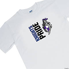 Custom Photo Large White Team Spirit Shirt - Pride