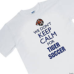 Custom Photo Large White Team Spirit Shirt - We Don't Keep Calm