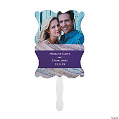 Custom Photo Marble Wedding Favor Fans