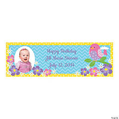 Custom Photo Medium 1st Tweet Birthday Vinyl Banner