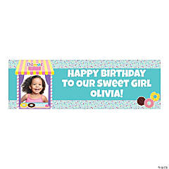 Custom Photo Medium Donut Party Vinyl Banner