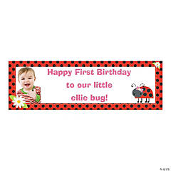Custom Photo Medium Ladybug Vinyl Banner