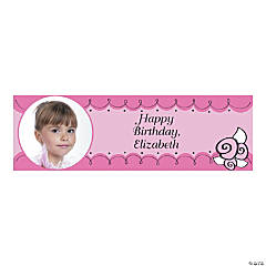 Custom Photo Medium Little Ballerina Party Vinyl Banner