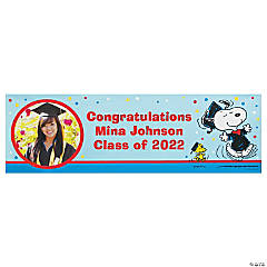 Custom Photo Medium Peanuts® Graduation Vinyl Banner