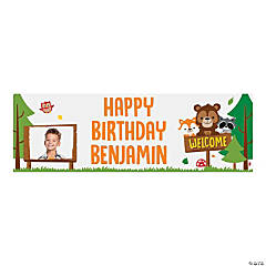Custom Photo Medium Woodland Party Vinyl Banner