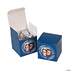 Custom Photo Mini Blue Favor Boxes